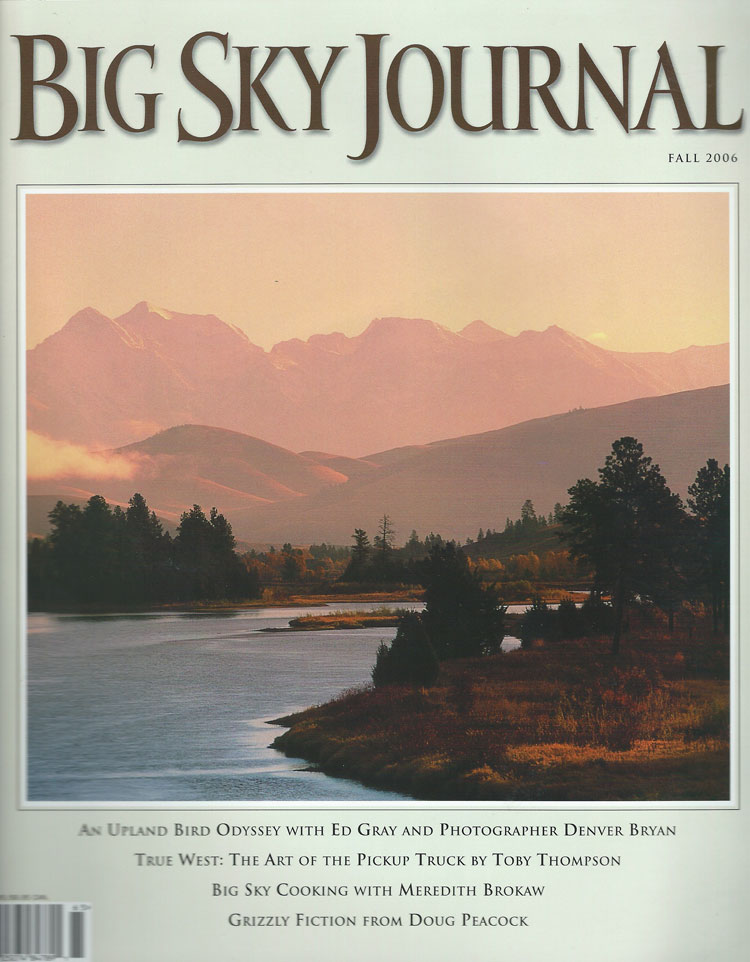 The Black Grizzly Comes of Age, Big Sky Journal Fall 2006